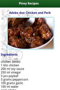 Pinoy Food Recipes screenshot 4