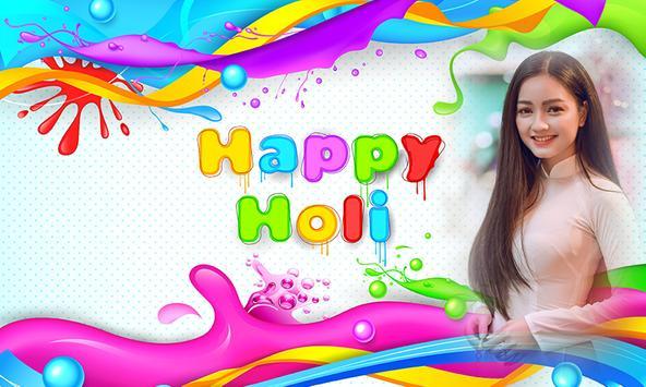 Happy Holi photo frames poster