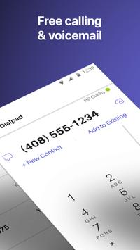 Text Free: WiFi Calling App تصوير الشاشة 1