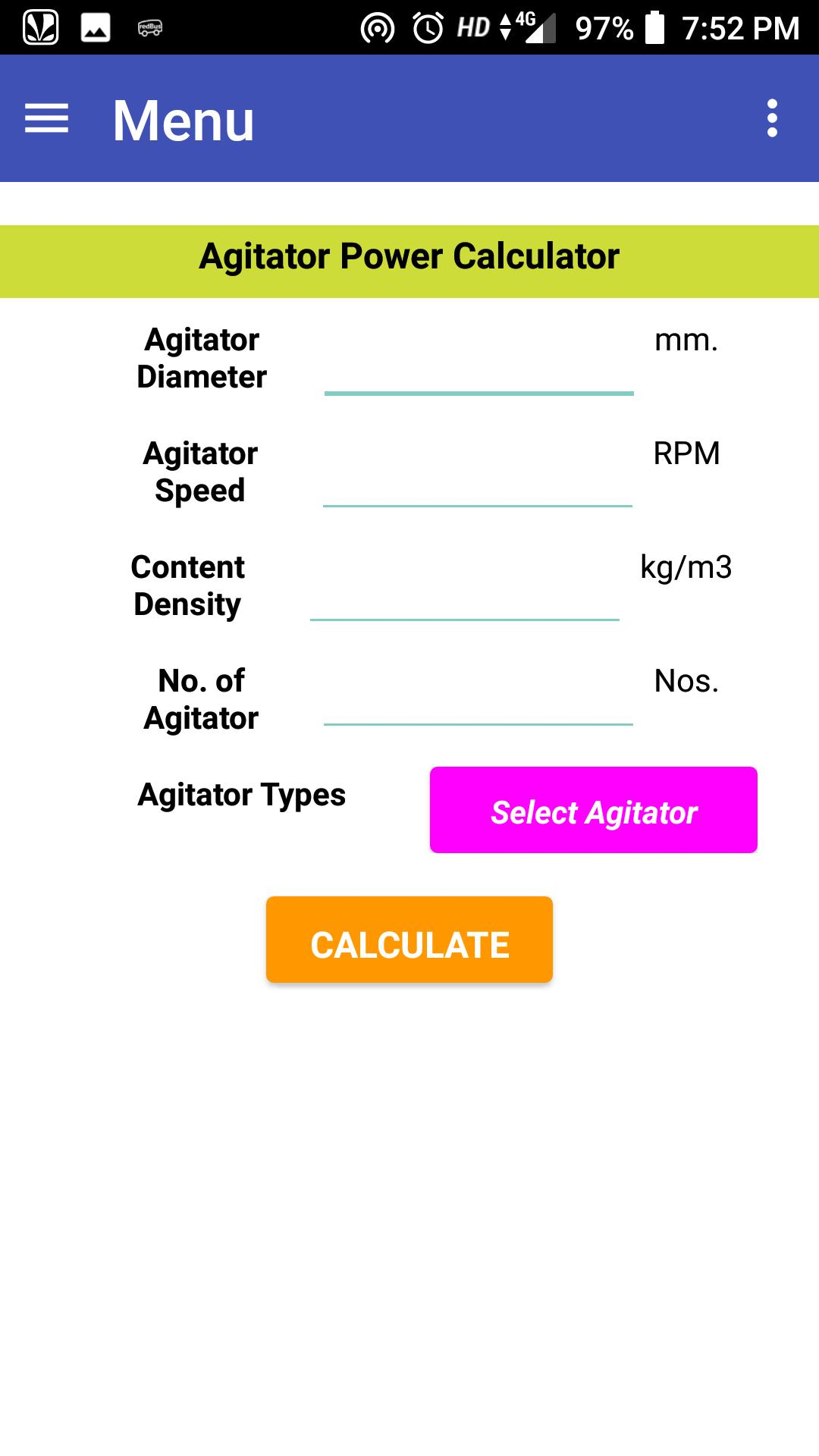 Agitator Power Calculator for Android - APK Download