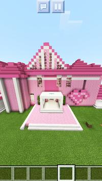 New Pink Mansion for Girls. Free MCPE map 2019 poster