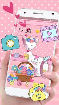 Pink Adorable Cat Theme screenshot 4