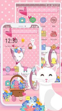 Pink Adorable Cat Theme screenshot 2