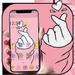 Pink Finger Heart Love Theme