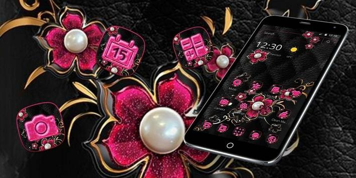 Pink Fower Pearl Business Theme screenshot 3