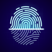 ikon Kunci Aplikasi Sidik Jari Dan Kunci Video Dan Foto