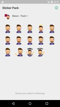 Messi - Stickers for WhatsApp (WAStickerApps) poster
