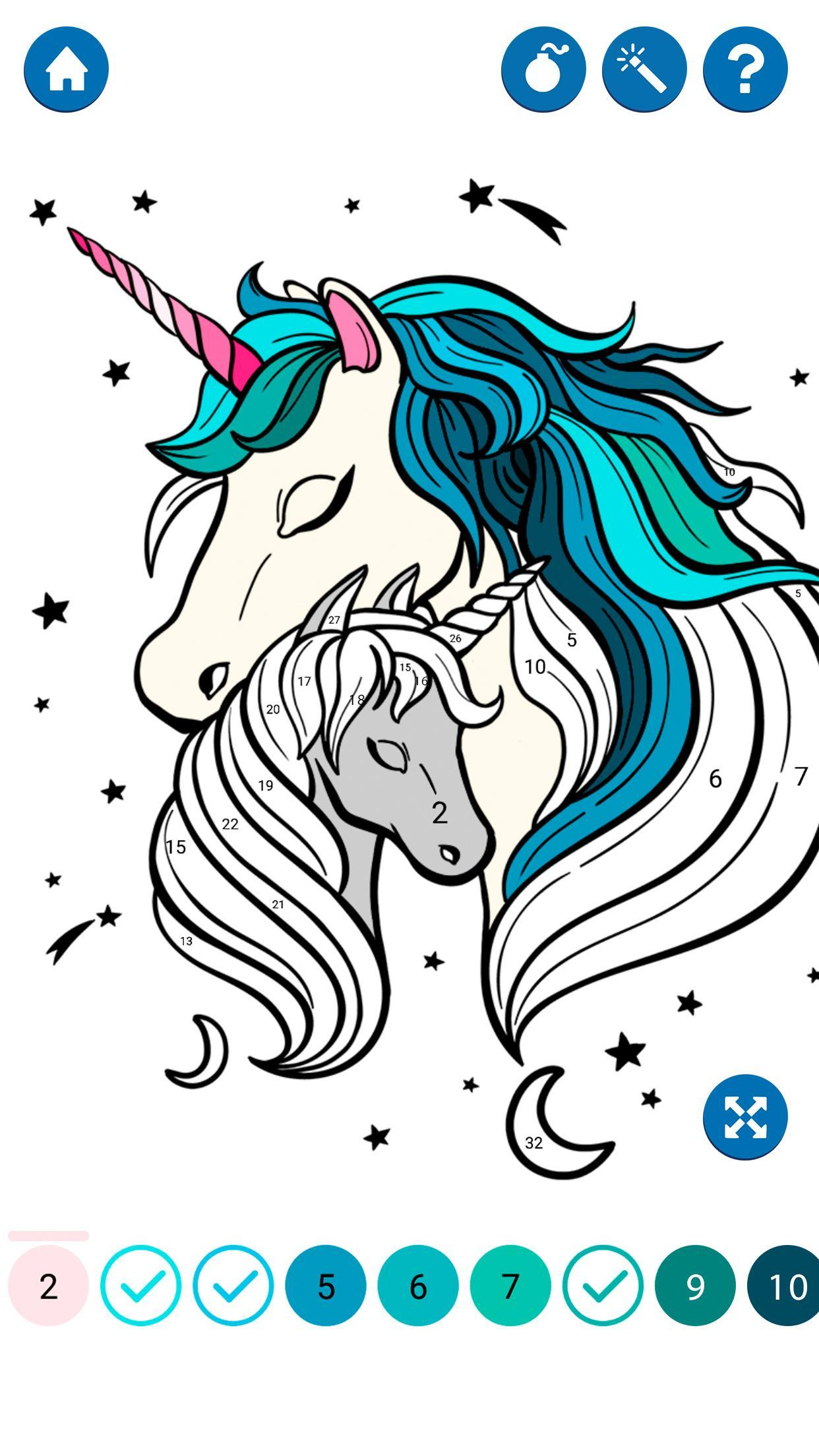 Unicorn Color by Number for Android - APK Download