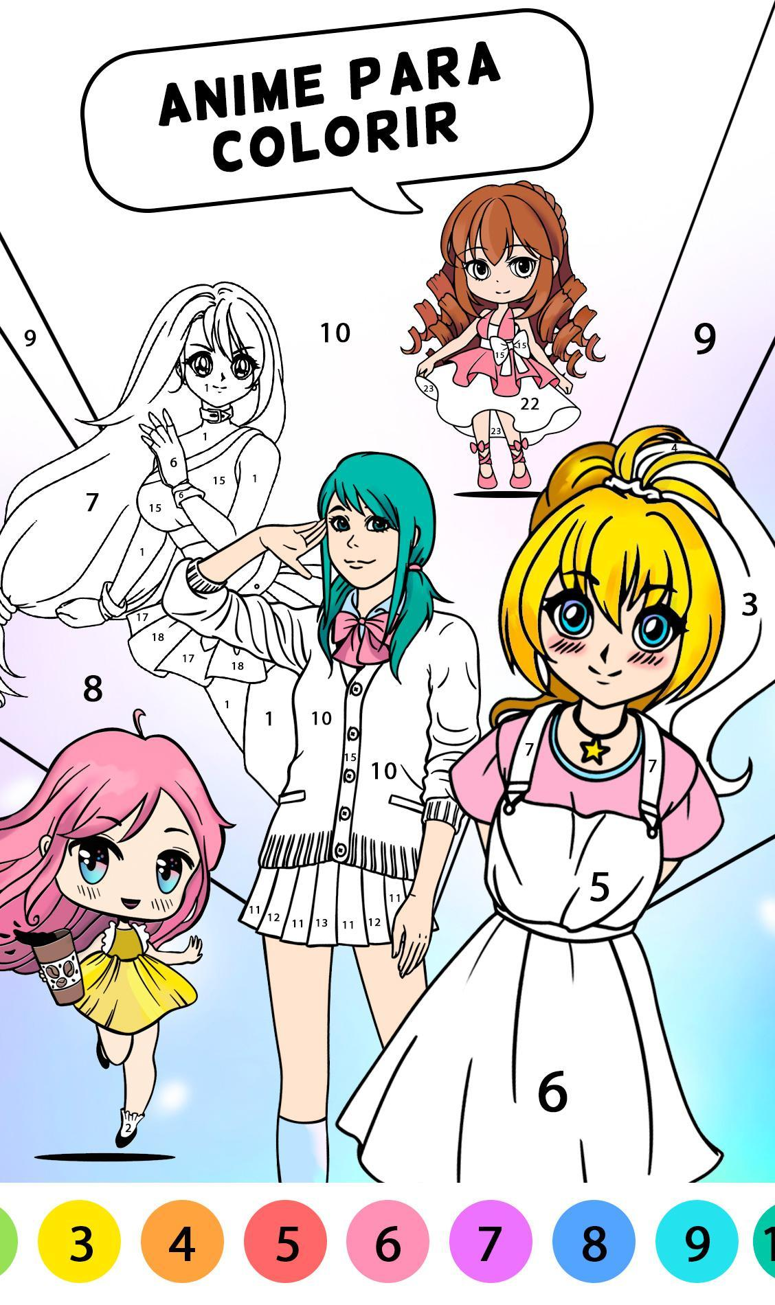 Anime Para Colorir Para Android Apk Baixar