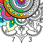 Mandala Color by Number icon