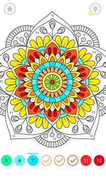 Mandala Color by Number screenshot 1