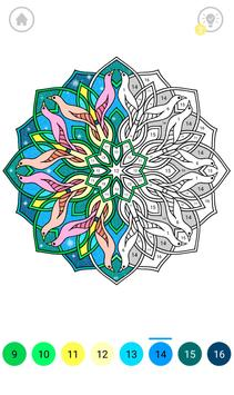Mandala Color by Number screenshot 3