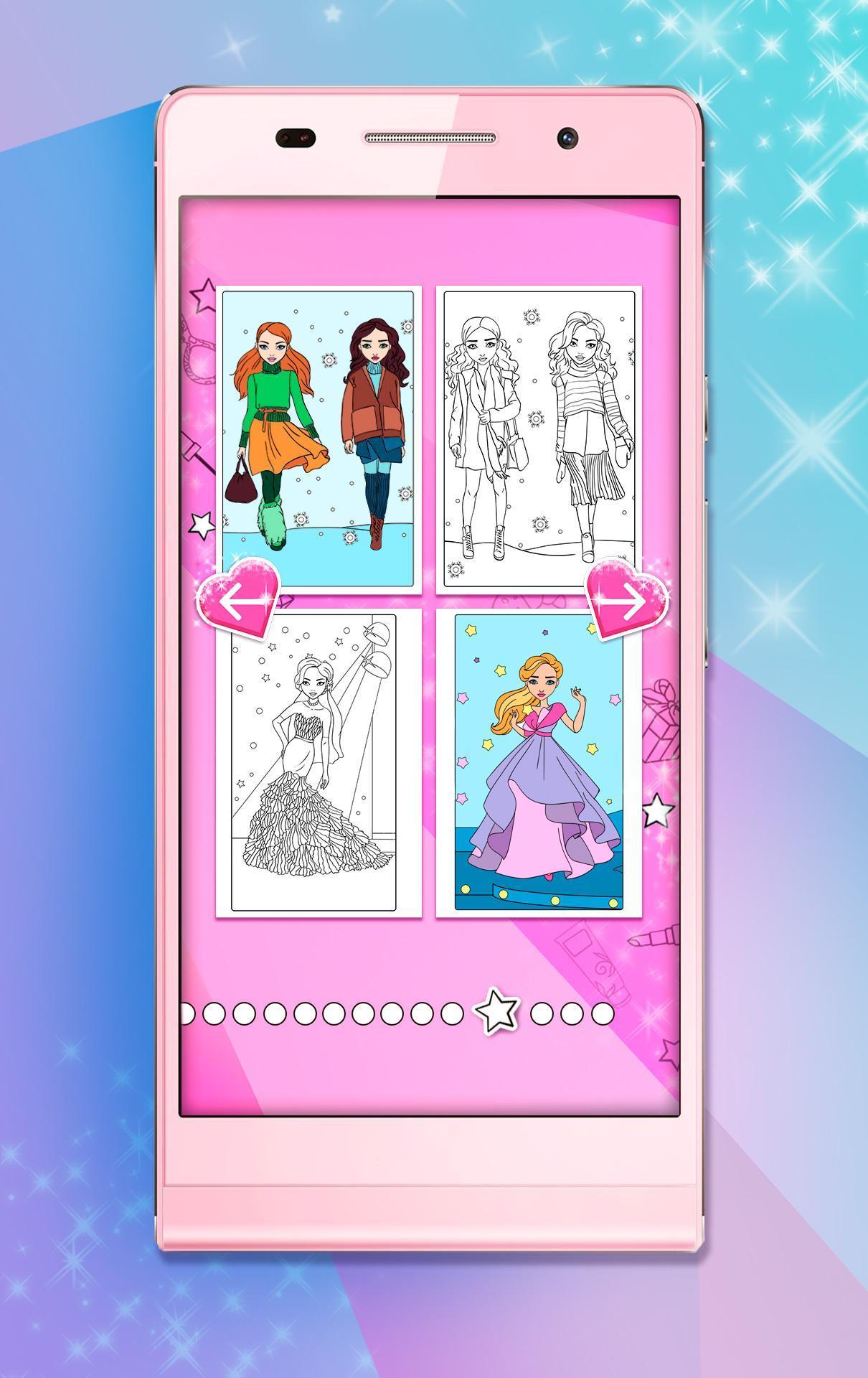 Раскраски для девочек для Андроид - скачать APK