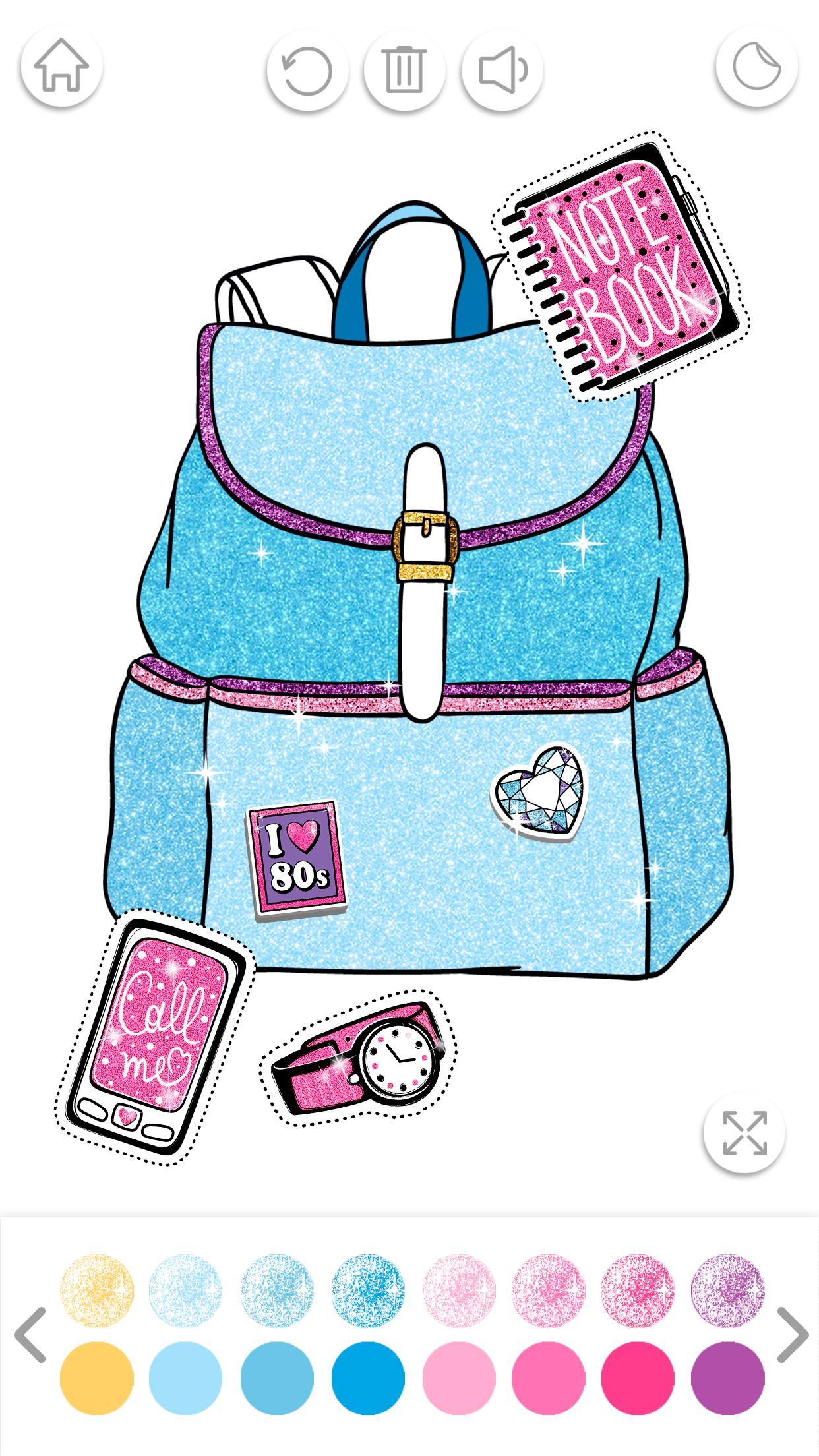 Блестящие Раскраски для Девочек: Мода и Стиль для Андроид ...