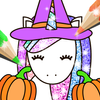 Halloween Coloring Book Glitter icono
