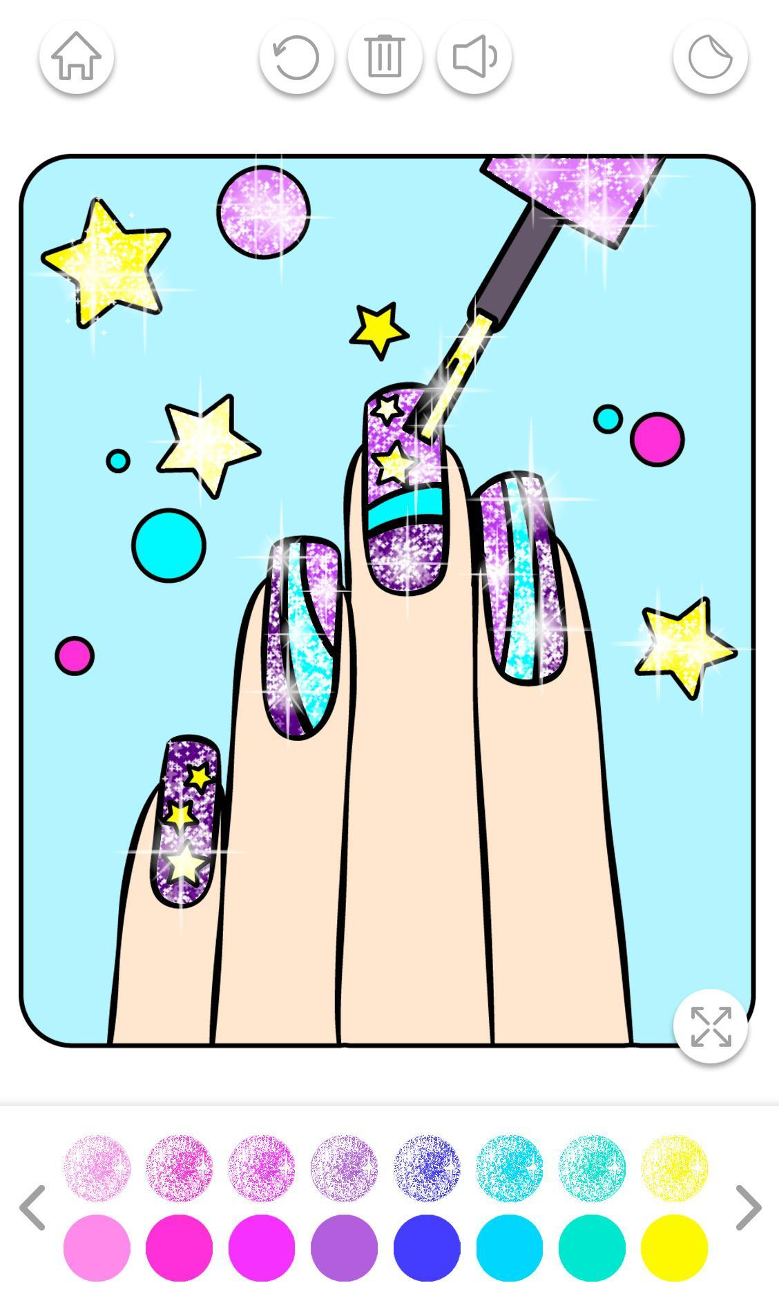 Nail Art Color – Glitter Girls Coloring Book für Android ...
