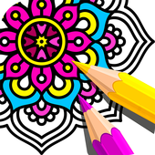Мандала Раскраски Антистресс иконка