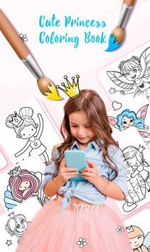 Cute Princess Coloring Book poster