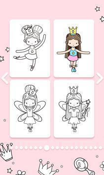 Cute Princess Coloring Book screenshot 1