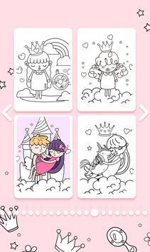 Cute Princess Coloring Book screenshot 4