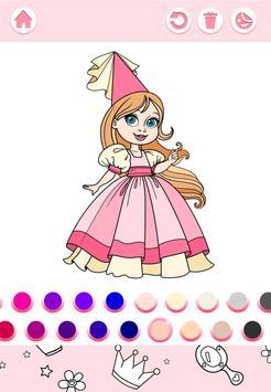 Cute Princess Coloring Book screenshot 6
