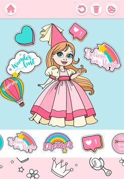 Cute Princess Coloring Book screenshot 7