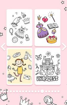 Cute Princess Coloring Book screenshot 8