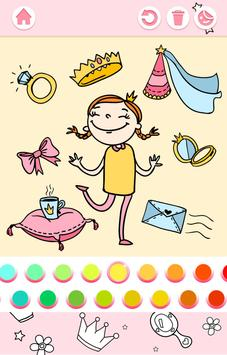 Cute Princess Coloring Book screenshot 9