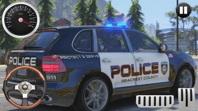 Police Porsche Cayenne - Huge City Drive poster