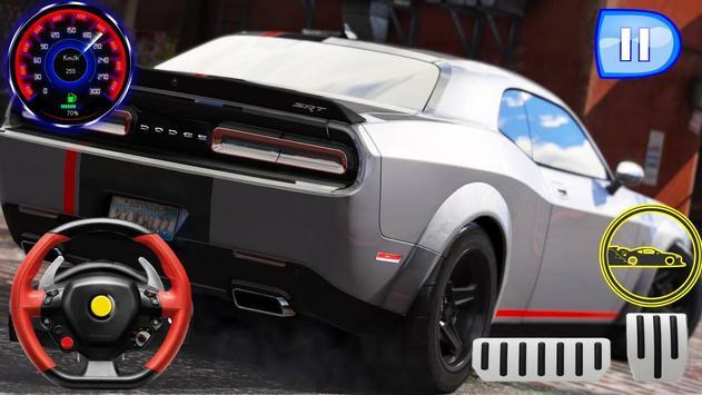 Drag Rider - Dodge Challenger Simulator 2019 screenshot 3
