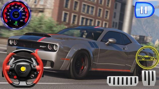 Drag Rider - Dodge Challenger Simulator 2019 screenshot 2