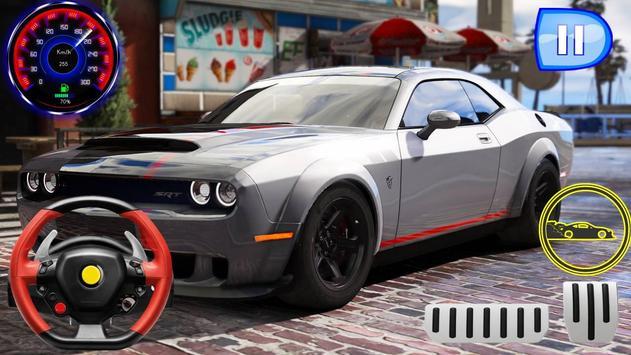 Drag Rider - Dodge Challenger Simulator 2019 screenshot 4