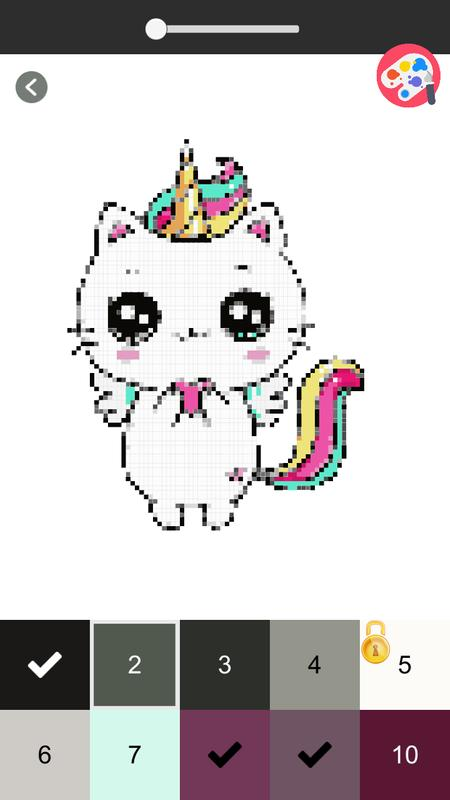 Unicorn Panda Pixel Art Number Coloring Books For Android Apk
