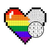Color by Number - Pixel Art, Pixel Color 2018 أيقونة