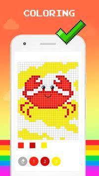 Color by Number - Pixel Art, Pixel Color 2018 تصوير الشاشة 1