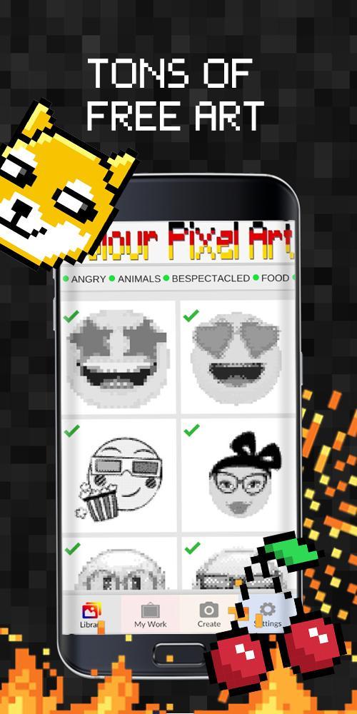 Emoji Pixel Art Livre De Peinture A Numeros Pour Android