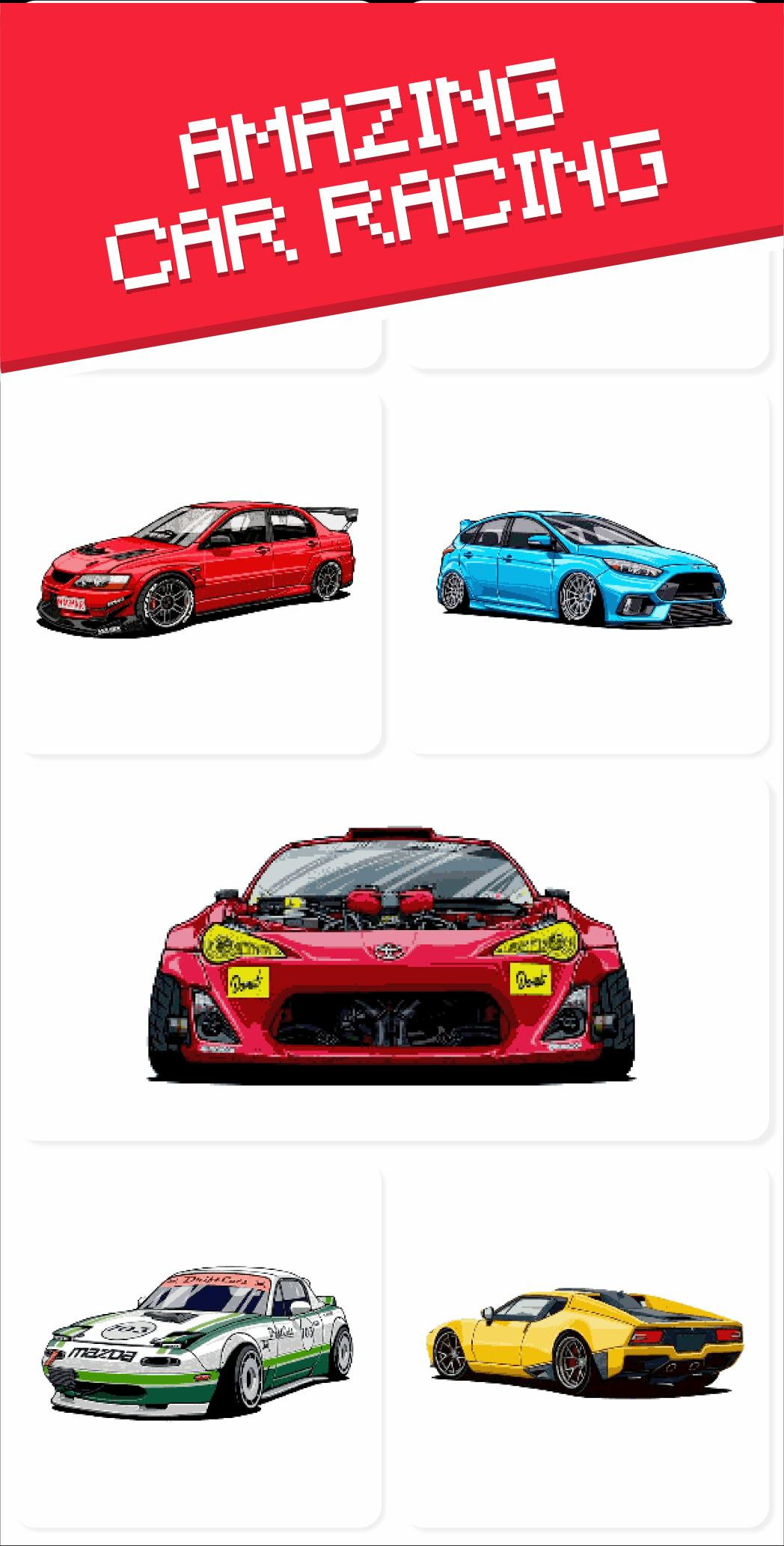 Pixel Art Cars Racing Color By Number For Adults For