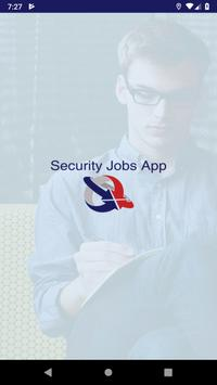 Security Jobs App poster