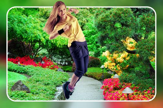 Garden Photo Frame : Cut Paste Photo Editor poster