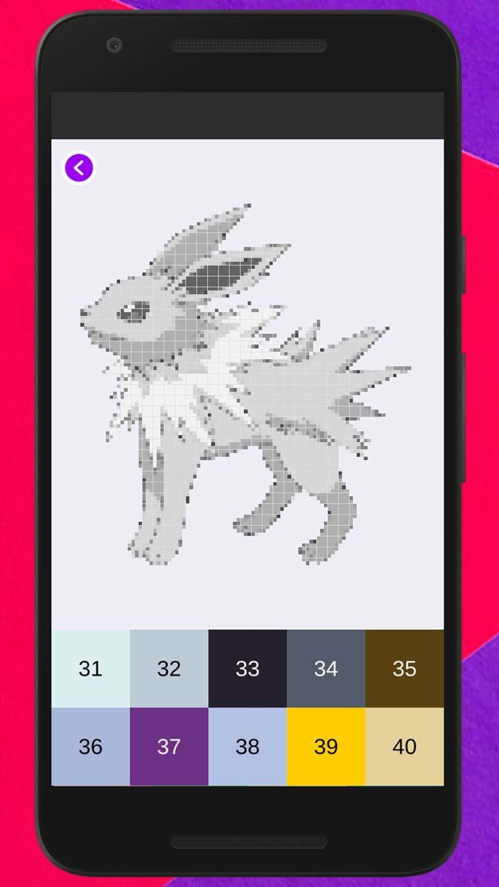 Poke Coloring By Number Pixel Art Coloring For Android