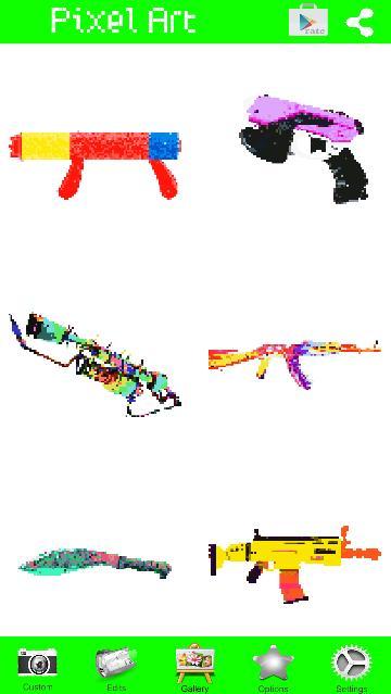 Pixel Gun Coloring Weapons By Number Fur Android Apk Herunterladen
