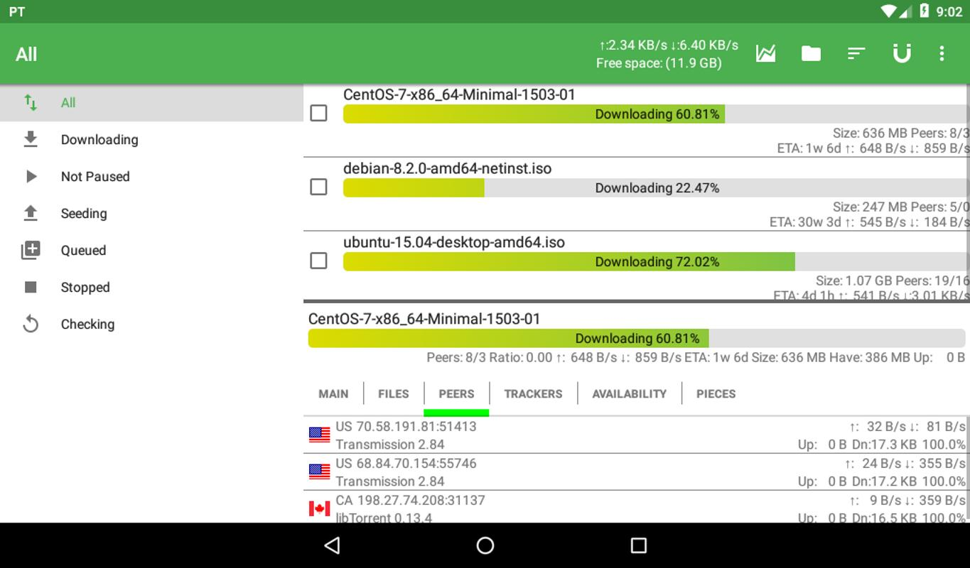 PTorrent For Android