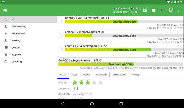 PTorrent for Android - APK Download