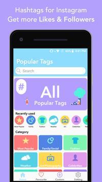 Hashtags - for likes for Instagram poster
