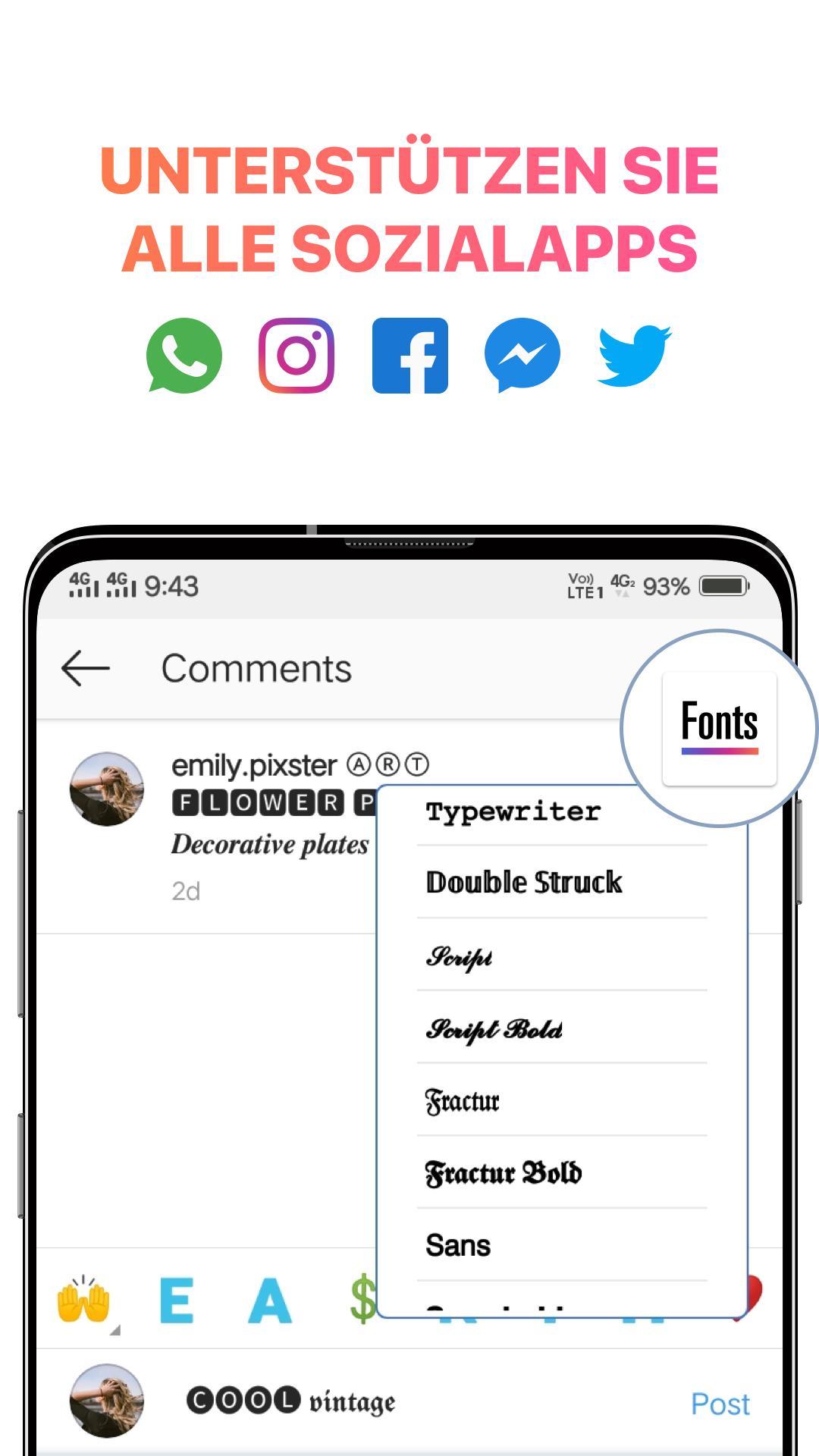 Fonts For Instagram Text Designer Schriftarten Für Android