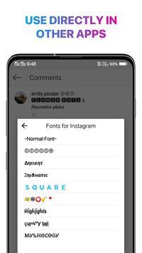Cool Fonts for Instagram - Stylish Text Fancy Font screenshot 2