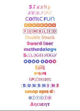 Cool Fonts for Instagram - Stylish Text Fancy Font screenshot 6