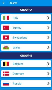 UEFA EURO 2020-2021 Predictions : Schedule : Teams screenshot 1