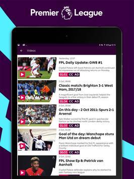 Premier League - Official App تصوير الشاشة 11