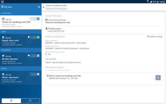 Planon AppSuite imagem de tela 13